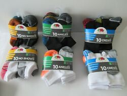 NEW BOYS#x27; SOCKS TEN PACKS No Show; Low Cut Ankle; Crew: $7 or $8 pack $7.00