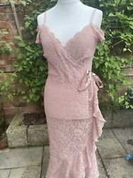 Sistaglam Niamh Rose Dress Size 12 Party Dress Cocktail Wear Wedding Guest GBP 32.99
