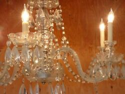 Vintage Antique Crystal CHANDELIER San Diego CA LOCAL PICKUP ONLY $75.00