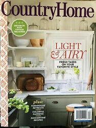 COUNTRY HOME MAGAZINE SUMMER 2021 cottage journal southern living sampler NEW $3.89