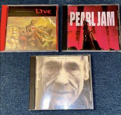 3 music CDs: PEARL JAM Ten THE CURE Staring at the Sea LIVE Throwing Copper $11.99