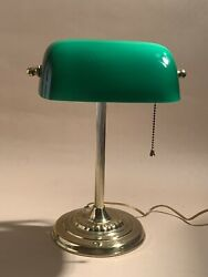 Bankers Desk Lamp With Green Shade Vintage Lamp $50.00