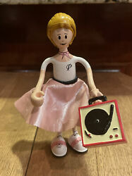 Kid Galaxy Bendos Peggy Sue 50#x27;s Poodle Skirt Girl With Record Player $5.00