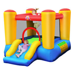 Inflatable Bouncer Kids Slide Bounce House for Indoor Outdoor without Blower $129.98