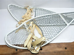 US Military 1982 MAGLINE Canada Magnesium Snowshoes w Bindings INV15026 $99.00