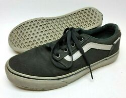 Vans Off The Wall Mens Skating Shoes Size 7 Black Gray Lace Up Athletic $14.99