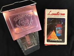 Vintage Champion Folding Candle Lantern Camping Light With Candle And Box $39.90