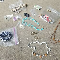 Vintage Trifari. Chandelier and plastic lot of Estate Costume Jewelry $17.00