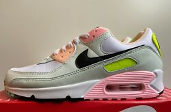 Nike Air Max 90 quot;Easterquot; Women#x27;s 9 White Black Volt Green Pink CZ1617 100 NoLid $137.99