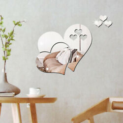 Mirror Love Hearts Wall 3D Sticker DIY Removable Decal Home Room Art Mural Decor $4.29