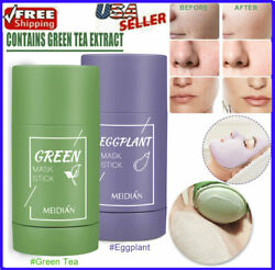 Green Tea Clay Mask Stick Purifying Facial Deep Cleansing Blackhead Acne Remover $6.49