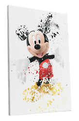Walt Disney Mickey Mouse Art Wall Room Canvas Poster CANVAS $24.99
