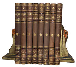 1894 1st GREAT MEN AND FAMOUS WOMEN COMPLETE 8 VOLUME SET LEATHER BINDINGS $300.00