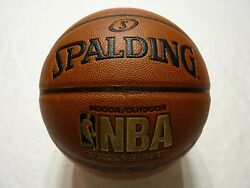 Spalding NBA Cross Court Indoor Outdoor Leather Basketball Official Size 7 NEW $19.95