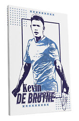Kevin De Bruyne Manchester City Soccer Team Art Wall Room Canvas Poster CANVAS $24.99
