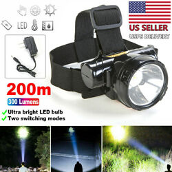 LED Flashlight Head Mounted Light Charge Type For Camping Hunting amp; Fishing $8.32