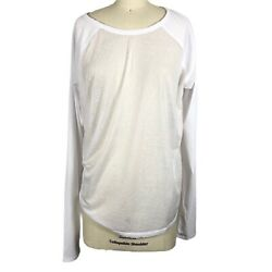 NWT Free People Bounce Back Active Top White L 12 14 $19.99
