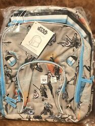 NEW Pottery Barn Kids Star Wars Rey Girl#x27;s Large Backpack The Force Awakens BB8 $69.95