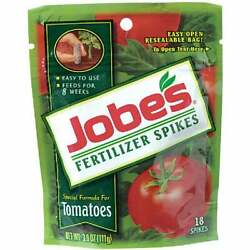 Jobe#x27;s 6 18 6 Tomato Fertilizer Spikes 18 Pack Pack of 24 06005 Pack of 24 $91.02