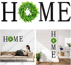 VIEFIN 12in Wood Home Letters for Wall DecorWall Hanging Home Signs with Wreath $27.99