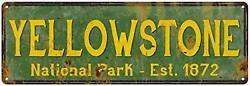Yellowstone National Park Sign Décor Rustic Signs Cabin Decorations Outdoors Ad $43.99