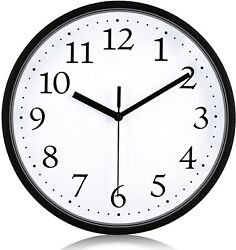 Large Wall Clock Silent Indoor Outdoor Battery Powered Analog Office Home School $10.99