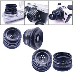 25mm F1.8 Manual Focus Fixed Lens Micro Cameras Wide Angle Lens Compact $48.97