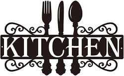 Kitchen Metal Sign 14 X 8.5 Inches Dining Room Wall Decor Kitchen Wall Art F $39.99