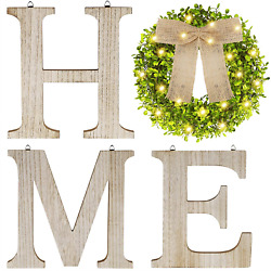 SAND MINE Wooden Home Signs Farmhouse Home Decor Wall Rustic Home Letters Deco $35.99