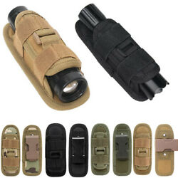 360 Degrees Rotatable Torch Pouch Tactical Nylon Flashlight Holster $7.69