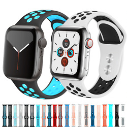 For Apple Watch Sport Band Silicone iWatch Series SE1 7 38 40 41mm 42 44 45mm $4.98