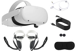 2021 Newest Oculus Quest 2 All in One VR Gaming Headset 64GB 256GB Gaming Bundle $419.00