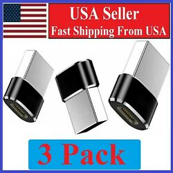 3 PACK USB C 3.1 Type C Female to USB 3.0 Type A Male Port Converter Adapter BLK $2.44
