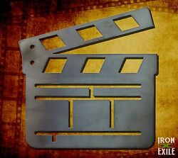 Movie Clapper Board Metal Wall Art Decor Vintage Theater Room Sign Vacation Home $19.95