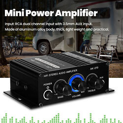 Mini Amplifier 2 Channel 3.5mm AUX Power Speakers for Car Wall Bedrooms Home $22.17
