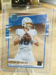 2020 Justin Herbert Chronicles Clearly Donruss Rated Rookie RC Chargers #RR JH $19.97