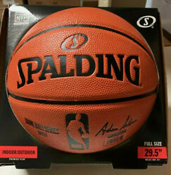 SPALDING NBA OFFICIAL SIZE GAME BALL SERIES REPLICA BASKETBALL ** NEW IN BOX $79.99
