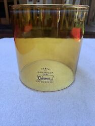 Coleman Lantern Globe Amber Color Marked Pyrex with Blue Fire Ring $50.00