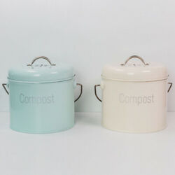 Kitchen Compost Bin Farmhouse Compost Caddy Bin with Lid Kitchen Composter $37.95