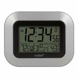 La Crosse Technology WS 8115U S INT Atomic Digital Wall Clock with Indoor and... $19.21