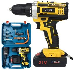 21V Electric Drill Cordless Electric Screwdriver Drill Set 30pcs with Battery US $39.98