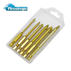 Drill Bit Set Tools 6 Size for Ceramic Tile Glass Concrete Brick Wall And Mirror $8.59