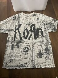 korn t shirt vintage large path of totality Wrap Around Tshirt $39.99