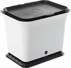 Fresh Air Odor Free Kitchen Compost Bin Black and White 1.5 Gallons $33.79