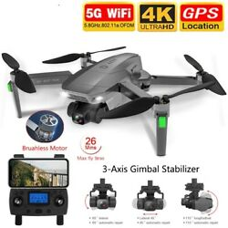 Drones GPS USB 5G WIFI 4k HD Mechanical Gimbal Camera Remote Control Helicopter $119.06