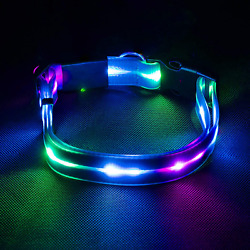 LED Dog Collar Light Up Dog Collar Waterproof USB Rechargeable Safety Glowing $21.99