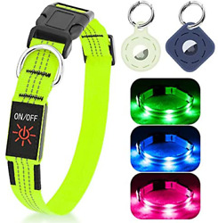 LED Dog Collar Light up Dog Collars for Small amp; Medium amp; Large Dogs with 2 Airta $24.00