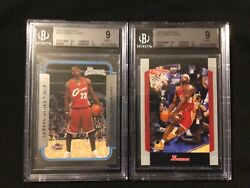 2003 04 Bowman And 2004 05 Bowman Lebron James RC and 2nd Year BGS 9 $900.00