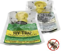 2x Outdoor Hanging Fly Trap Bag Flycatcher $9.00