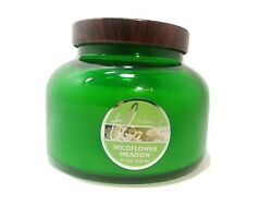 TrueLiving Large Scented Candle Wildflower Meadow 15 oz Green Jar With Lid $19.99